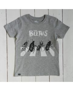 T-Shirt BEETLES Grey en Coton biologique