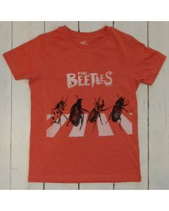T-Shirt BEETLES Red en Coton biologique
