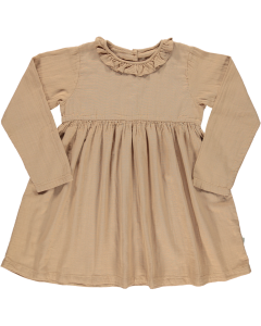 Robe Campanule en Coton Biologique, Indian Tan