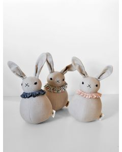 Lapin Roly Poly, collerette Chambray