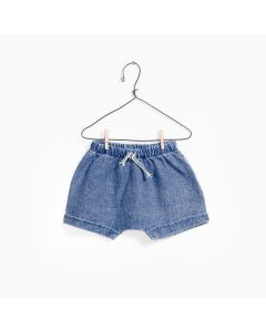 Short Denim en Lin