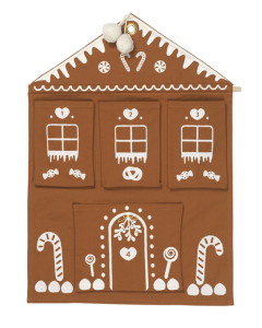 Calendrier Mural Brodé, Gingerbread House