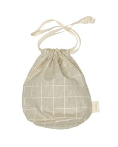 Multi Bag small, Oyster Grey Check