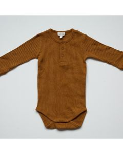 Ribbed Body en Coton Biologique, Bronze