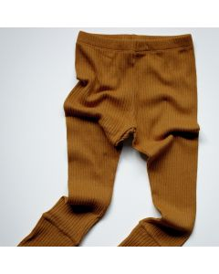 Ribbed Legging en Coton Biologique, Bronze