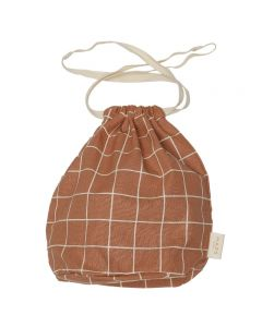 Multi Bag small, Terracotta Check
