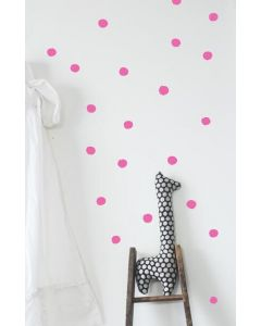 Stickers muraux - Dots pink